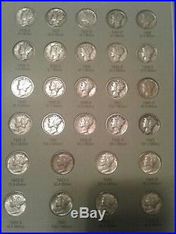 VERY NICE Total set of 90% Silver mercury dimes Includes 1916D & all key dates