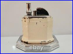 VINTAGE WORKING RONSON OCTETTE TOUCH-TIP TABLE LIGHTER 1930s, ALL ORIGINAL