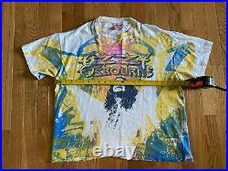 VTG 1991 OZZY OSBOURNE All Over T-Shirt Sz XL RARE Hanes Single Stitch Tie Dye