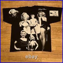 VTG 1998 Marilyn Monroe Shirt AOP All Over Print Made USA JFK Mosquitohead 2XL