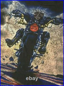 VTG 90s Iron Maiden Don't Walk All Over Print T-Shirt Metal Rock Concert Tour