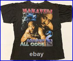 VTG 90s Tupac Shakur Against All Odds 2Pac Memorial Rap Tee T Shirt Hip Hop XL