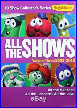 VeggieTales Volume 1-3 All The Shows 1993-2010 NEW 6 DVD Set 30 Collector Shows