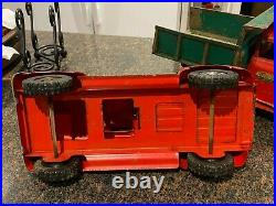 Vintage 1955 Tonka Toys Red Pickup TOY Truck, Pressed Steel ALL ORGINAL WOW