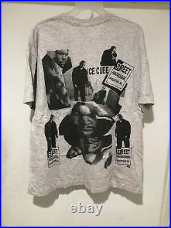 Vintage 1992 Ice Cube All Over Print T Shirt Rap Tee Size XL Westside Connection