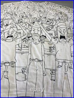 Vintage 1993 Beavis And Butthead MTV All Over Print Tee Shirt Rare