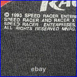 Vintage 1993 Changes Speed Racer X All Over Print Single Stitch Shirt Large 90s