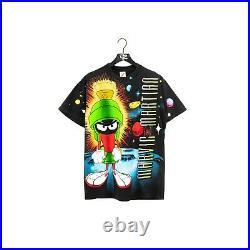 Vintage 1993 Warner Bros Wild Oats Marvin The Martian All Over Print T-Shirt Siz