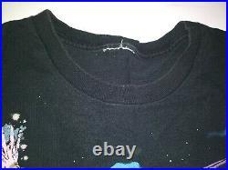 Vintage 1994 All Over Print Wizard T Shirt Liquid Blue VGC Size XL Vtg 90's