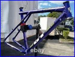 Vintage 1995 GT Zaskar 18 Mountain Bike Frame INK BLUE All Terra Hans Rey
