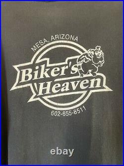 Vintage 90s 1996 Harley Davidson Eagle 3D Single Stitch Tshirt XL All Over Print