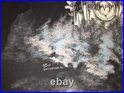 Vintage 90s Harley Davidson T-Shirt Thunder & Lightning All Over Print Size 3XL