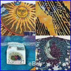 Vintage 90s Liquid Blue Sun & Moon T Shirt All Print Mens XL Grateful Dead