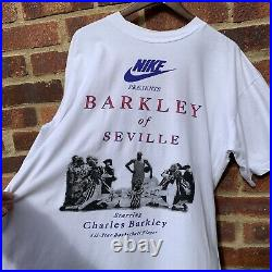 Vintage 90s Nike Charles Barkley Nike Commercial Promo All Over Print T-Shirt, L