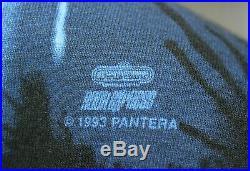 Vintage 90s Pantera All Over Print T Shirt Size XL USA Made Metal Winterland
