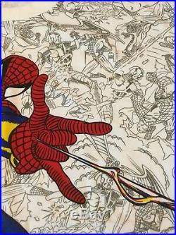 Vintage 90s SPIDERMAN all over print t shirt L Marvel Comics Spider Man rare
