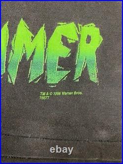 Vintage 90s Space Jam Swackhammer All Over Print T Shirt Monstars Movie Large
