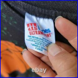 Vintage Beatles Rubber Soul All Over Print Tour Band Shirt Mens XL 80s 90s RARE