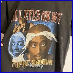 Vintage Bootleg Rare Tupac Rap Tee T Shirt All Eyes On 2pac Sz Large L Graphic