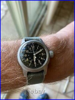 Vintage Bulova A17A Navigation Hacking Military Pilots All Original Men's Watch