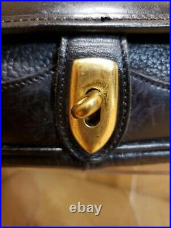Vintage DOONEY BOURKE Black All Weather Large Leather Carrier Bag Handbag Purse