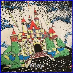 Vintage Disney Disneyland All Over Print Fireworks Castle T Shirt AOP one Size