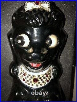Vintage French Poodle-kit Kat Clock- Black Poodle, All Original, Refurbished