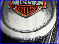 Vintage Harley Davidson THUNDER & LIGHTNING All Over Print T-Shirt Size XL