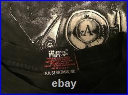 Vintage Harley Davidson T Shirt Thunder Lightning 2XL All Over Engine 90s XXL