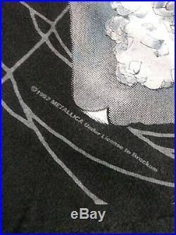 Vintage Metallica T-Shirt 1992 / Ring Master / Pushead / All Over Print XL