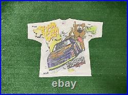 Vintage Nascar Cartoon Network Scooby Doo Wacky Racing T Shirt All Over Print L
