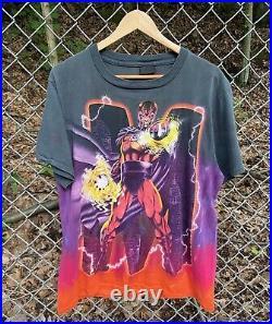 Vintage RARE 1998 USA Made X-Men Magneto All Over Print Mega Print T-Shirt Large