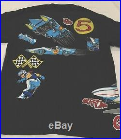 Vintage Speed Racer X Mach V Double Sided T Shirt Single Stitch All Over XL 1992