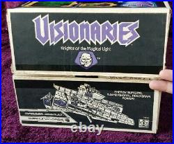 Vintage Visionaries Full Set Of All Figures & Vehicles Boxed & Moc Sealed 1987