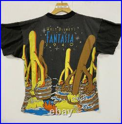 Vintage Walt Dsney Mickey Mouse Fantasia Promo All Over Print Shirt L/Xl Rare