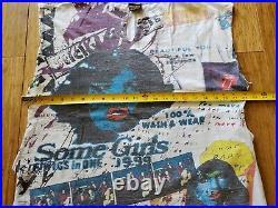Vtg 1994 The Rolling Stones All Over Print Cut Off T Shirt Tank Top XL Brockum
