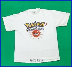 Vtg 1999 Pokemon Gotta Catch Em All Graphic T Shirt Adult Size XL Nintendo Anime