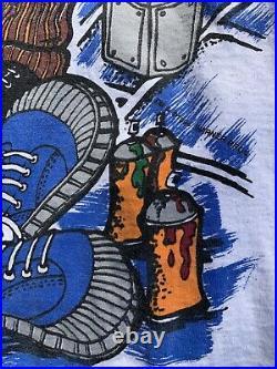 Vtg Looney Tunes All Over Print Rap T-Shirt Laid Back Snoop Gin N Juice Sz XL
