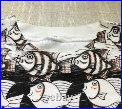 Vtg MC ESCHER T Shirt 90s all over print art tee psychedelic nature sz Large