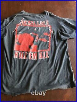 Vtg Metallica Kill Em All 85 Shirt Xl Slayer Anthrax Megadeth Concert Tour