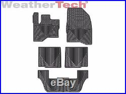 WeatherTech All-Weather Floor Mats for Ford Flex 2009-2019 1st 2nd 3rd Row Black