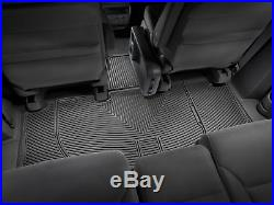 WeatherTech All-Weather Floor Mats for Honda Odyssey 2005-2010 1st 2nd 3rd Black