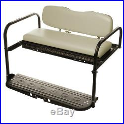 White Club Car DS (1982-UP) Golf Cart All American Rear Flip Seat Kit