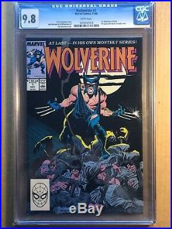 Wolverine # 1 To 10 All Cgc 9.8 & White Pages 1988 Patch Series 10 Books
