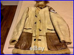 Ww11 B7 Great Modified All Orig. &patched(lg. Leather Transport)! Gorgeous! Mint! 42r